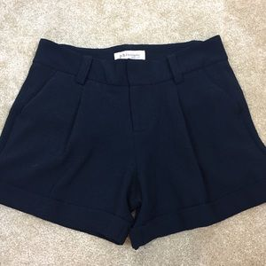 🥉PHILOSOPHY Navy BLUE Pleated CUFFED Dress SHORTS